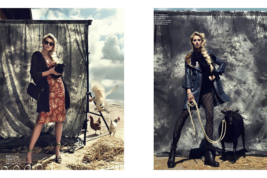 Marie Claire Lena Gercke Maier Agency Fashion Shooting
